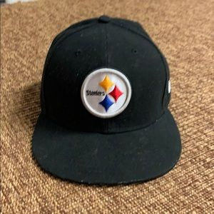 PITTSBURGH STEELERS NEW ERA FITTED BLACK HAT